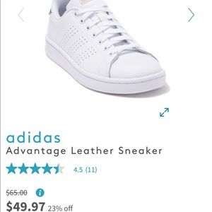 Adidas advantage leather sneakers